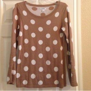 Tan old navy sweater polka dot